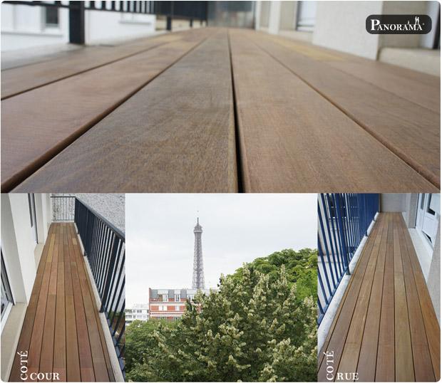 terrasse bois balcon exotique ipé