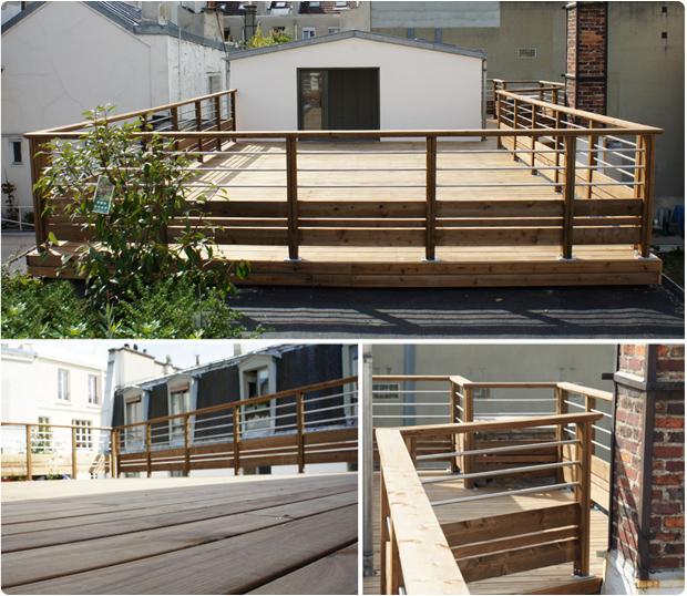 terrasse bois toit pin autoclavé