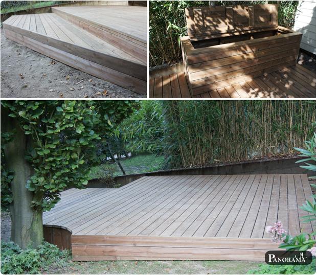 terrasse bois pin jardin escalier