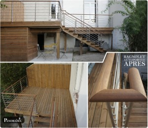 terrasse autoportée poliotis poteaux pin