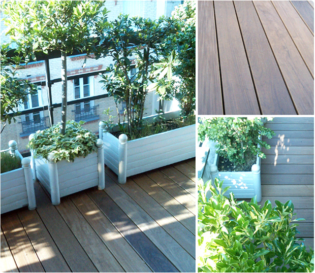 balcon bois exotique levallois perret ipé