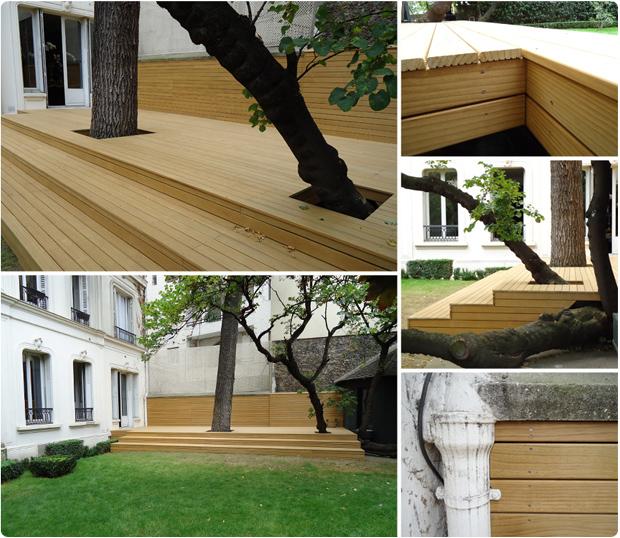 terrasse bois pin sans noeud - trocadero paris 16