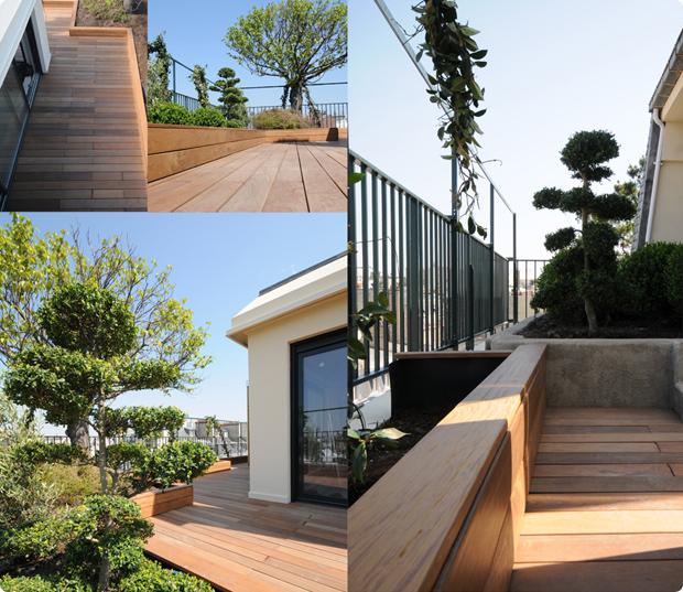 terrasse bois exotique - ipé du brésil - paris 16eme