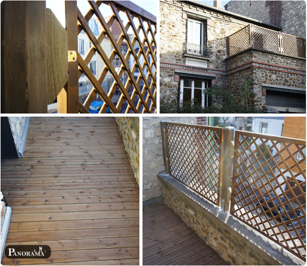 terrasse en pin brun - issy les moulineaux 92130