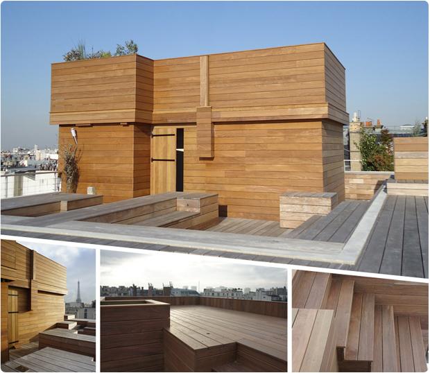 bardage et terrasse bois exotique paris 16 ipé