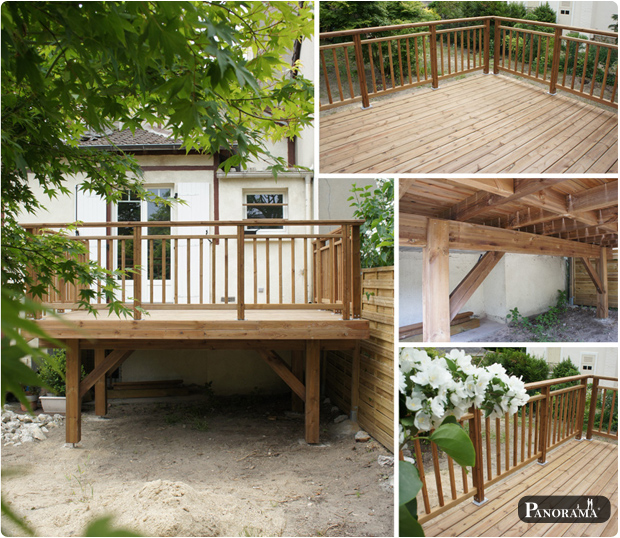 Terrasse en bois exotique ip paris trocad ro for Terrasse suspendue beton photo