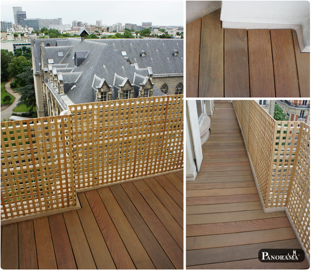 Terrasse en bois exotique ip paris trocad ro for Balcons et terrasses de paris