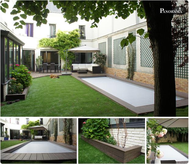 Plage de piscine en bois composite timbertech boulogne for Piscine 92100
