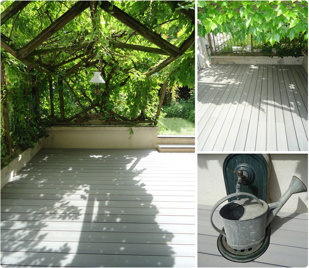 balcon en bois composite. Black Bedroom Furniture Sets. Home Design Ideas