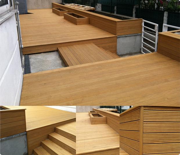 Terrasse en bois exotique (Ipé) – Versailles – 78000INVISIBLES