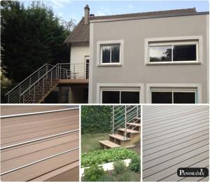 terrasse en bois composite timbertech poteaux pilotis autoportée gagny 93
