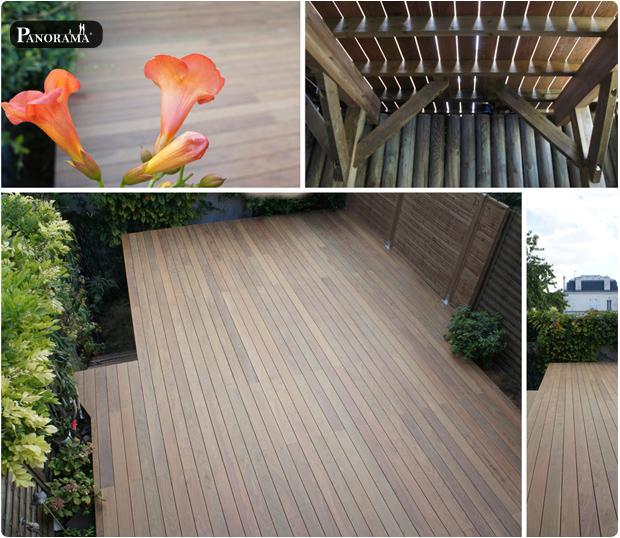 Terrasse en bois exotique ip paris trocad ro for Exemple de terrasse carrelee