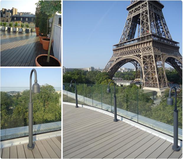 Paris  75016  Tout Eiffel  PANORAMA  Terrasses en bois  Paris ~ Jardinerie Delbard Bois Paris