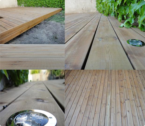 terrasse bois pin avec noeud classe IV charenton 94