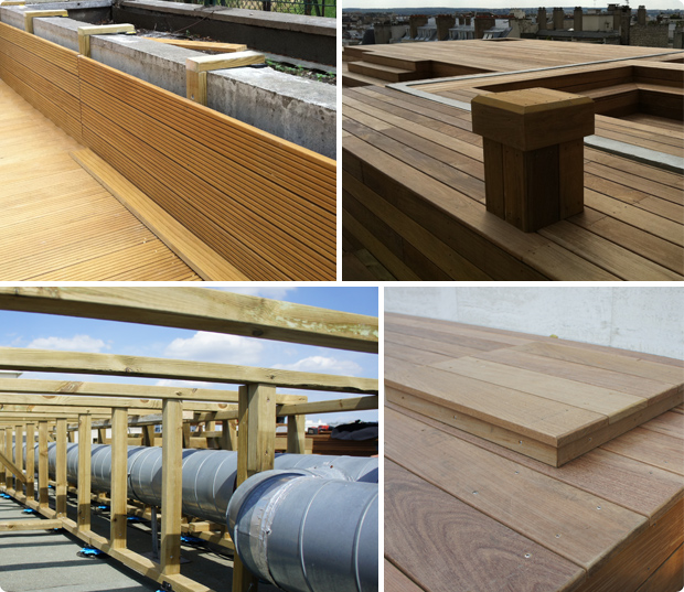 Option coffrageoption coffrage panorama terrasses for Mur de terrasse en bois