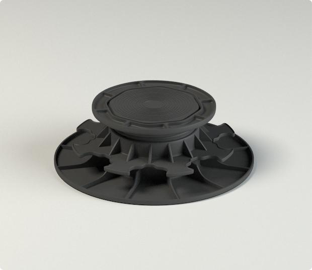 plot polymere - terrasse bois - plot réglable - plastique - pour étanchéité