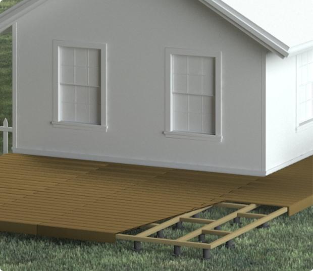 type de terrasse bois - sol stable