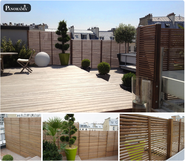 Terrasse en bois exotique ip paris trocad ro for Piscine 75009
