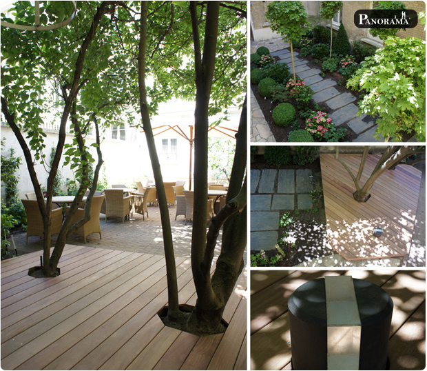 terrasse bois exotique cumaru paris hotel magellan 75017