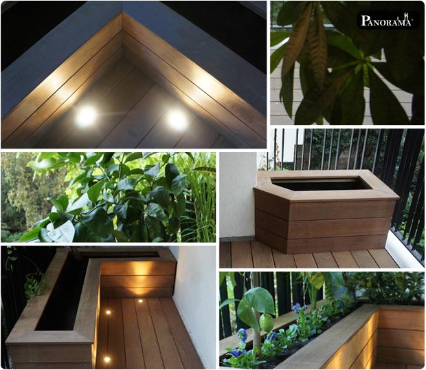 terrasse bois exotique ipe paris 16 eclairage spot