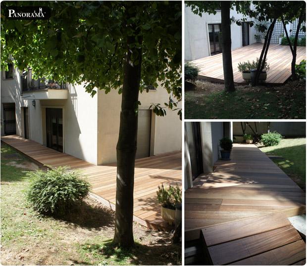terrasse bois exotique paris ecole militaire ipé du brésil profil bombé