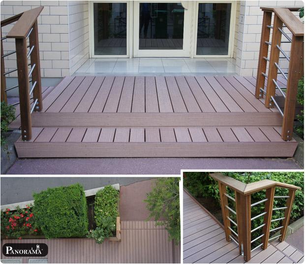 terrasse en bois composite timbertech paris. Black Bedroom Furniture Sets. Home Design Ideas