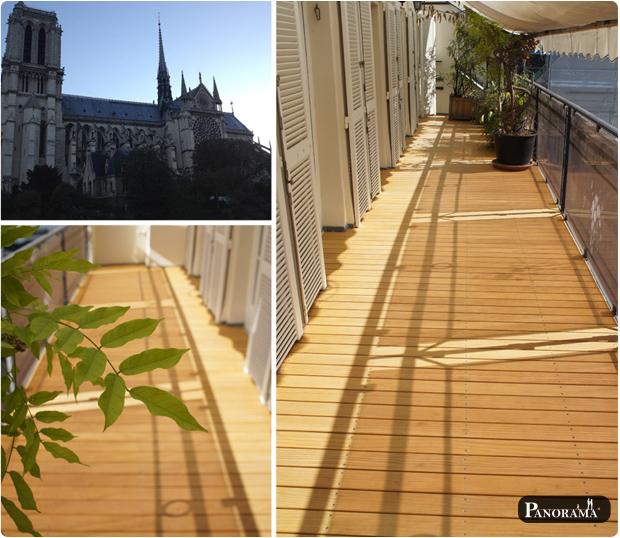 terrasse en bois pin sans noeud radiata paris notre dame