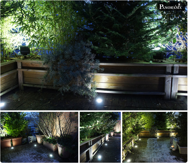 Clairage terrasse en bois paris 75019 clairage for Eclairage terrasse led