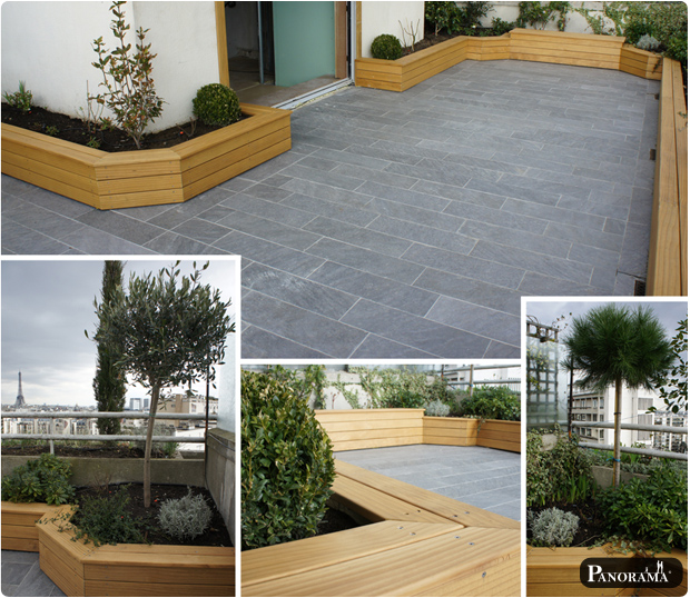 Terrasse en bois exotique ip paris trocad ro for Plante pour bordure de terrasse
