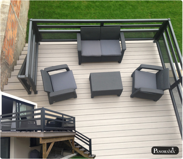terrasse sur pilotis en bois composite timbertech. Black Bedroom Furniture Sets. Home Design Ideas