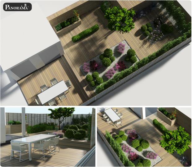 modelisation 3D asnières terrasse bois amenagements