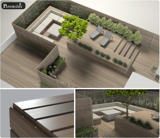 modelisation 3D terrasse bois exotique Ipe