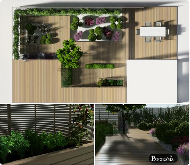 modelisation 3D terrasse bois amenagements exterieurs bois