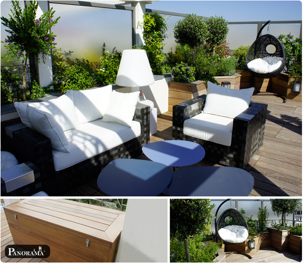 terrasse en bois exotique ip marne la coquette 92430terrasse en bois situe dans le 92. Black Bedroom Furniture Sets. Home Design Ideas