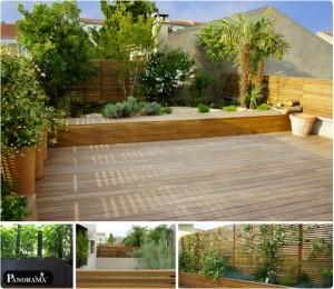 terrasse en bois exotique 94 Fontenay ipe du bresil panneaux parevue en ipe ajourés