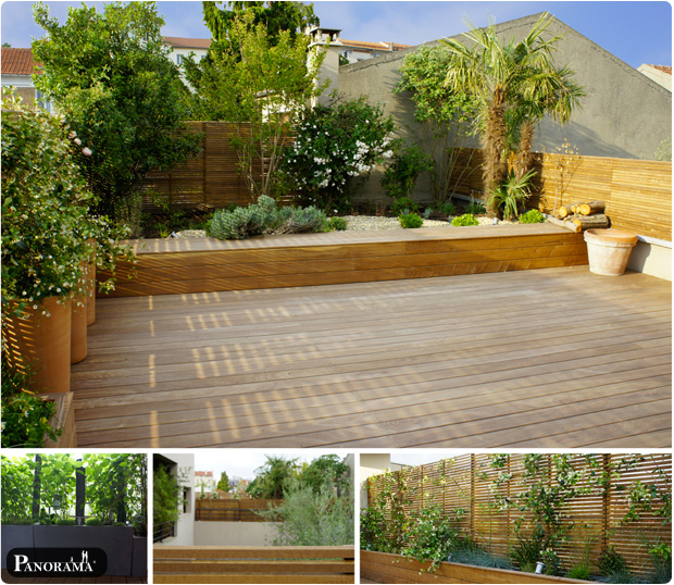 Terrasse en bois exotique ip paris trocad ro for Mur de terrasse en bois