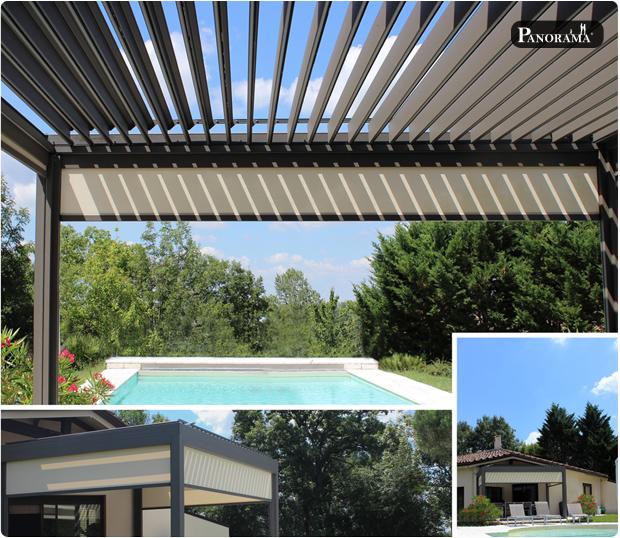 pergola bioclimatique panorma etanche soleil design moderne