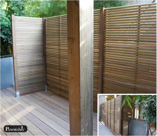 terrasse en bois exotique cumaru 93 Les Lilas claustras sur mesure en ipé