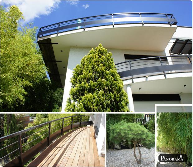 terrasse de qualité en bois exotique, cumaru profil bombé dans le 92 au plessis robinson