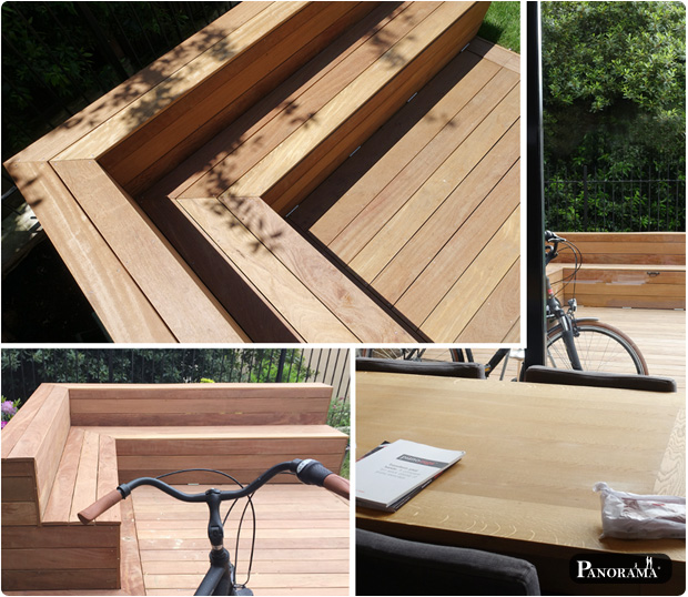 Terrasse en bois exotique ip paris trocad ro for Maison armature bois