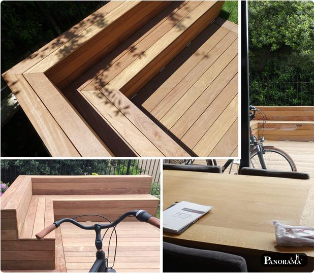 maison paris plancher en bois exotique panorama terrasses