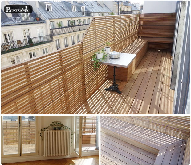 terrasse bois ipé claustras ipe sur mesure paris notre dame de lorette 75009 panorama terrasses