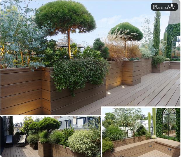 terrasse bois composite haut de gamme paris 7 rue bellechasse panorama terrasses toit terrasse