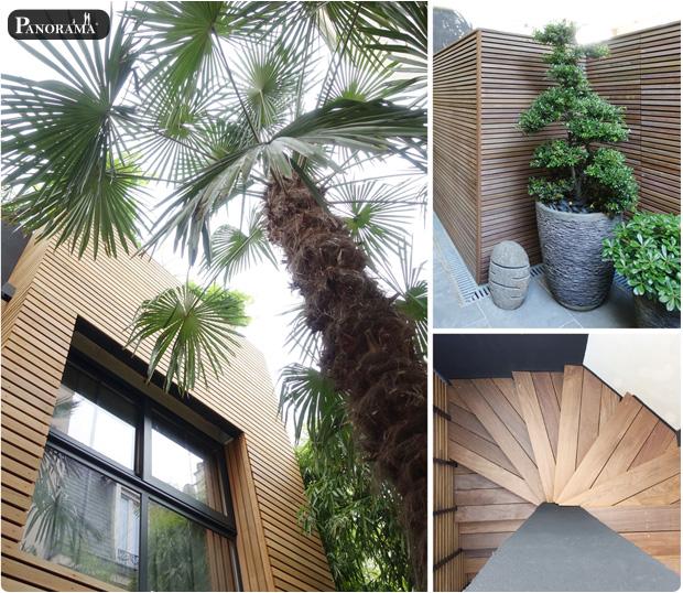 terrasse bois boulogne 92 bardage en red cedar panneaux claustras en ipe bois exotique panorama terrasse