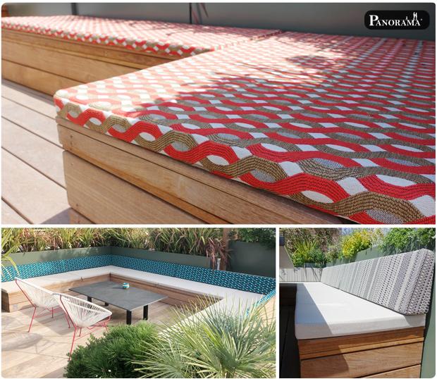 terrasse bois ipe banquette santillane design panorama terrasse roland garros rooftop jacuzzi pergola cabane