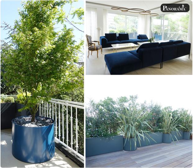 terrasse bois ipe bac aluminium santillane design panorama terrasse roland garros rooftop jacuzzi pergola cabane