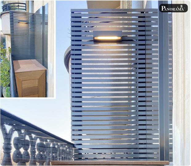 panneau parevue sur mesure aluminium clairevoie panorama paris 16 passy cuisine exterieur plancha