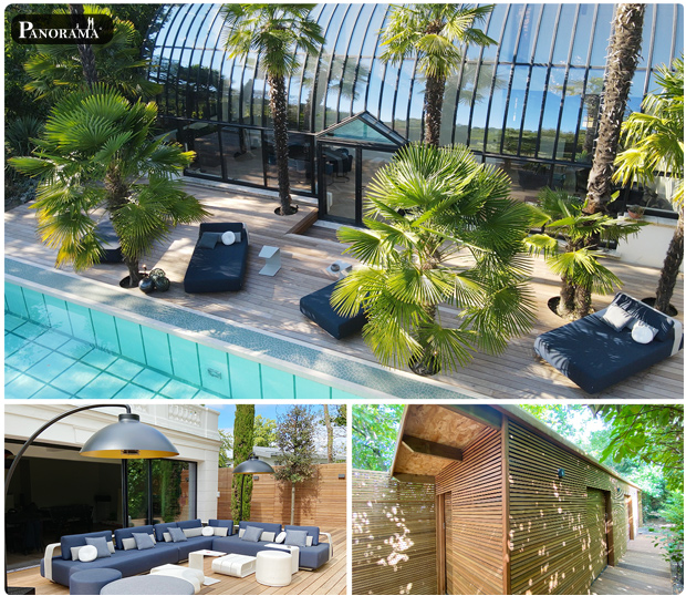 terrasse ipé piscine parc de la malmaison rueil 92500 serres josephine bonaparte Panorama terrasses